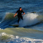 Paddle boarder, Miramar Beach, FL