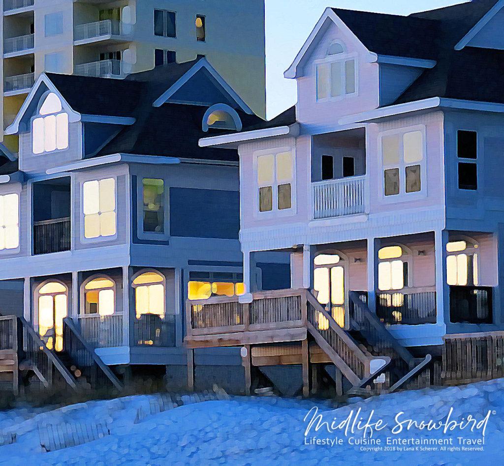 canvas prints, canvas wall art, beach homes, beach house, beach house at sunset