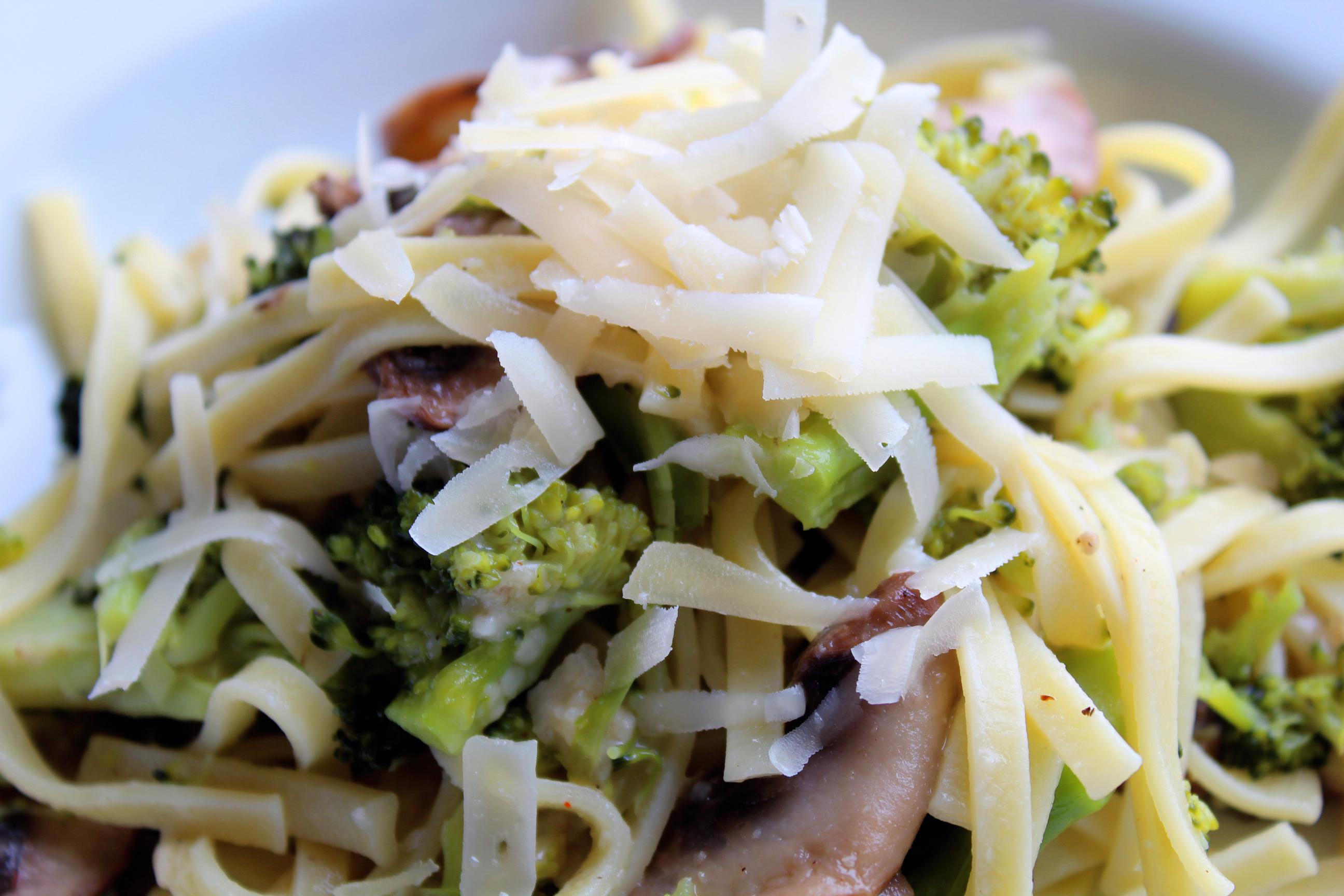 broccoli Capellini with parmesan Snowbird Recipe