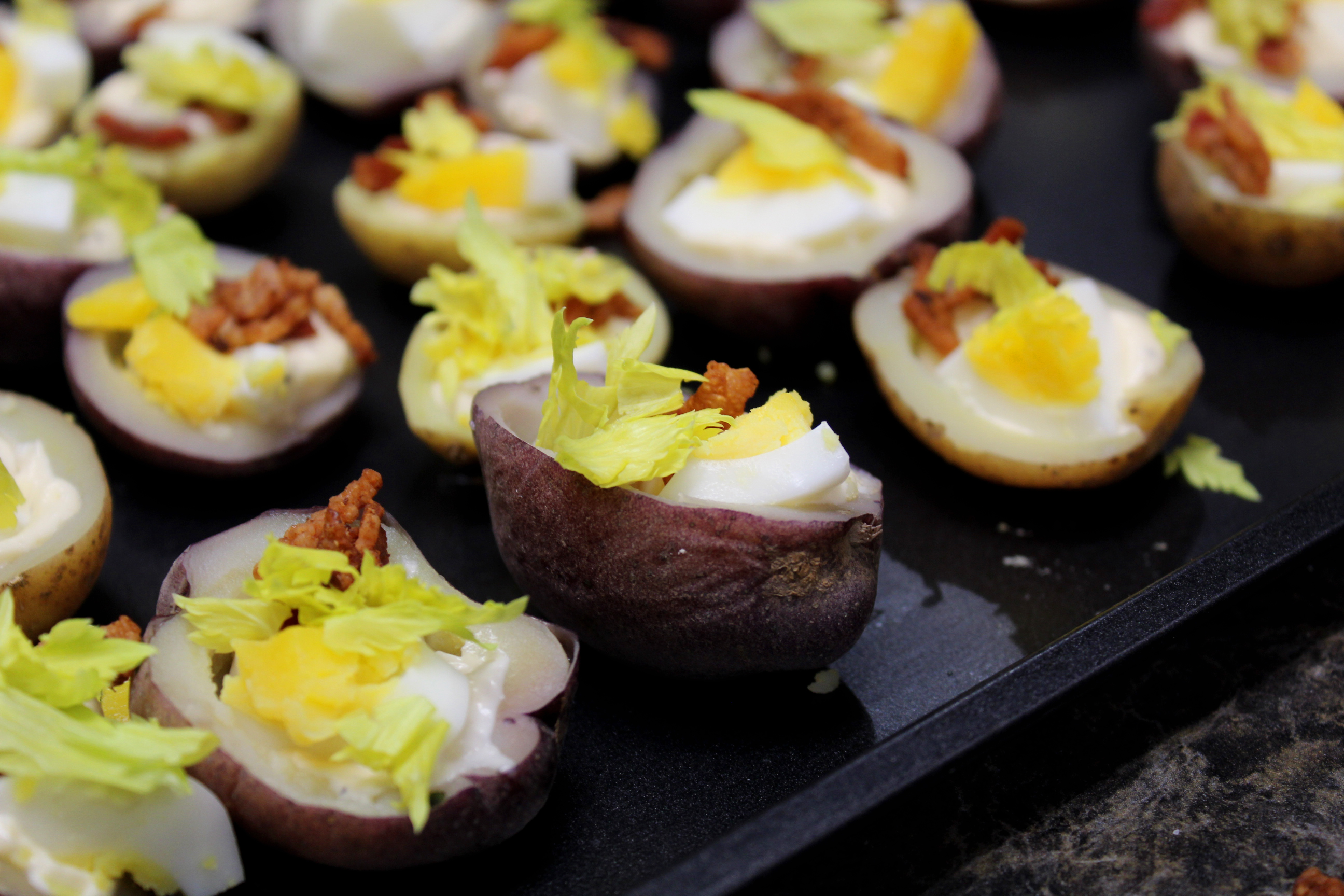 Bite Sized Potato Salad Hors d'oeuvres Midlife Snowbird Recipe