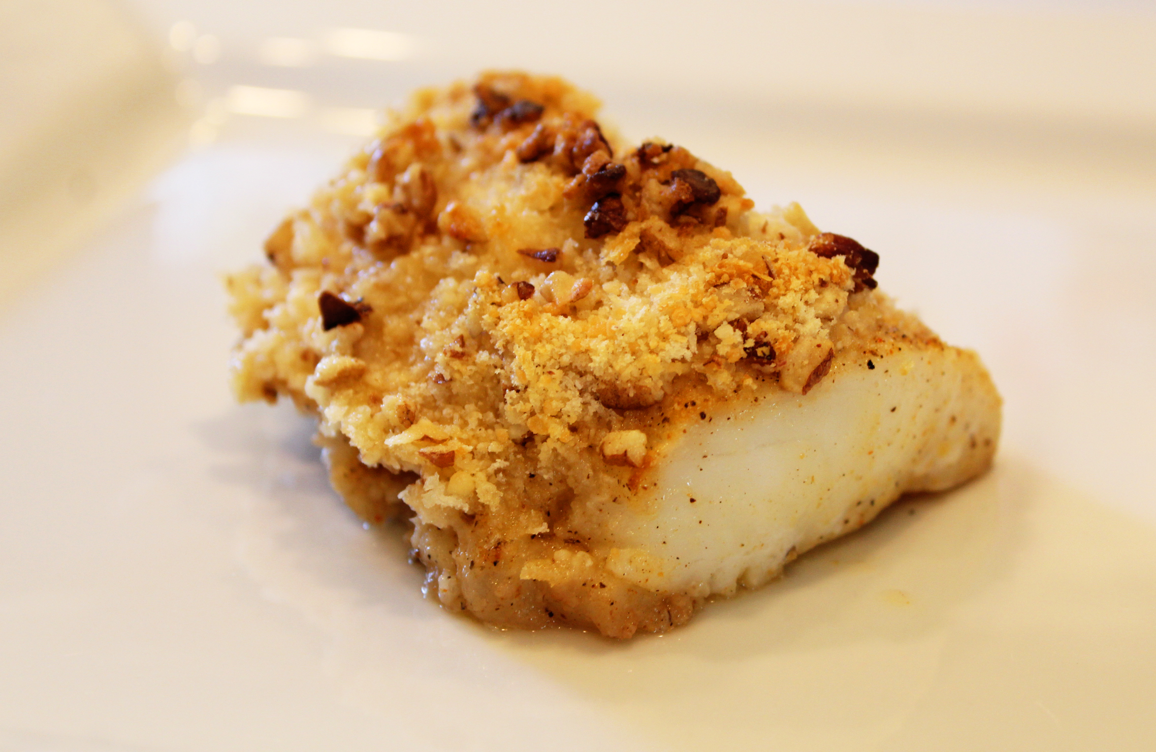 Baked Whitefish with Parmesan Pecan crust Snowbird Recipe
