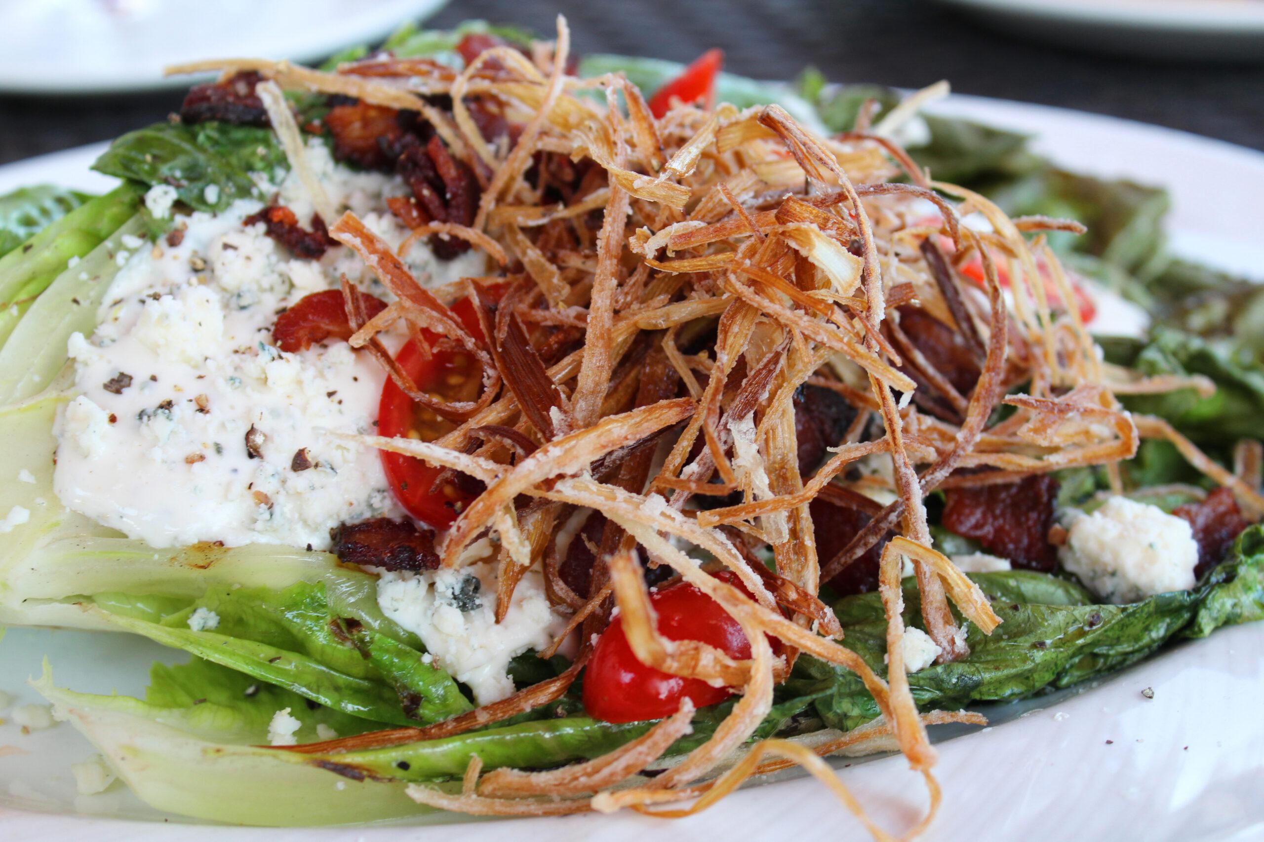 upscale steak house blue cheese salad