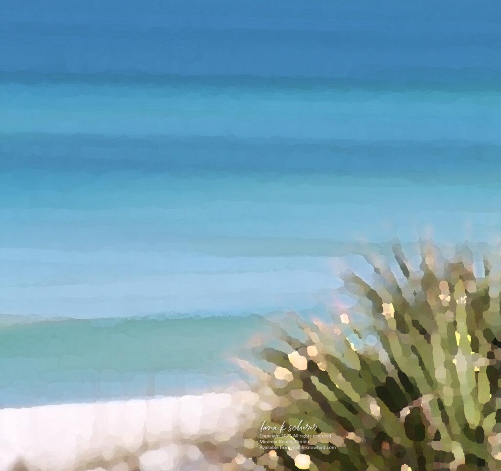 """18 X 24"""" Canvas Print: Miramar Beach Palm"""